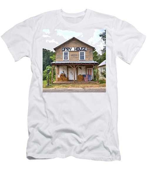 Men's T-Shirt (Slim Fit) featuring the photograph Opry House - Square by Gordon Elwell