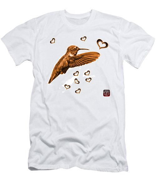 Orange Hummingbird - 2055 F S M Men's T-Shirt (Athletic Fit)
