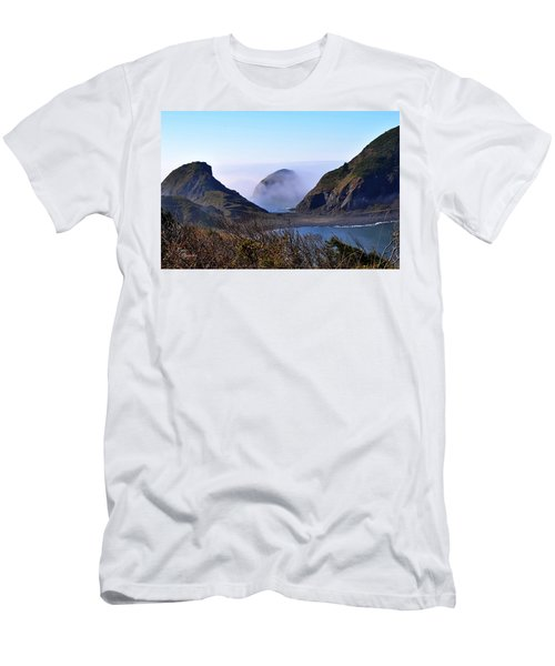 Oregon Coast In Fog Men's T-Shirt (Athletic Fit)