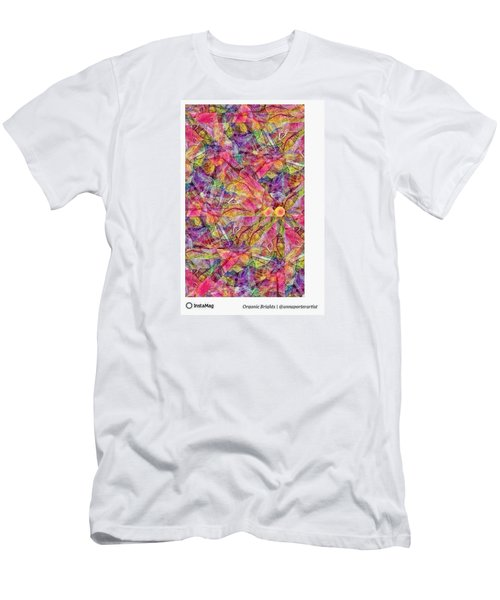 Organic Brights, A Digital Collage By Men's T-Shirt (Athletic Fit)