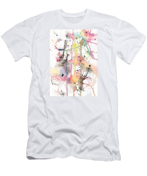 Men's T-Shirt (Slim Fit) featuring the painting Organic Clash by Rebecca Davis
