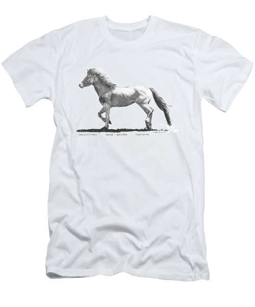 Men's T-Shirt (Slim Fit) featuring the drawing Oshunnah Stepping Out For Freedom by Marianne NANA Betts