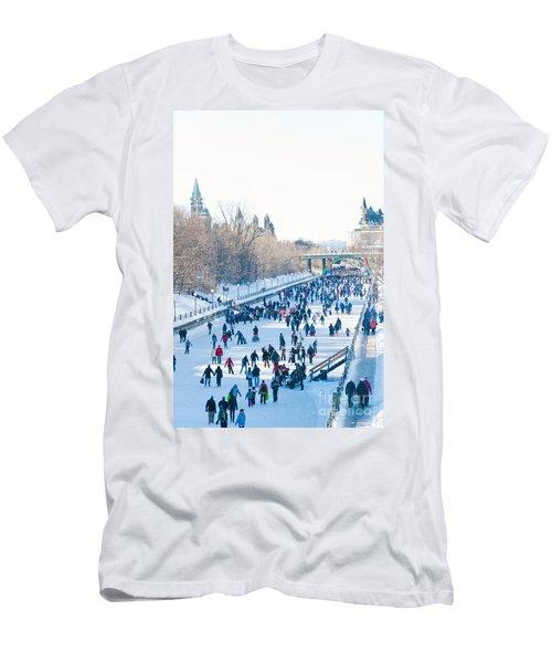 Ottawa Rideau Canal Men's T-Shirt (Slim Fit) by Cheryl Baxter