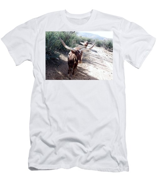 Out Of Africa  Long Horns Men's T-Shirt (Athletic Fit)