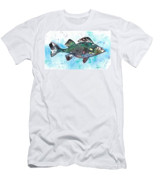 Men's T-Shirt (Slim Fit) featuring the painting Out Of School by Barbara Jewell