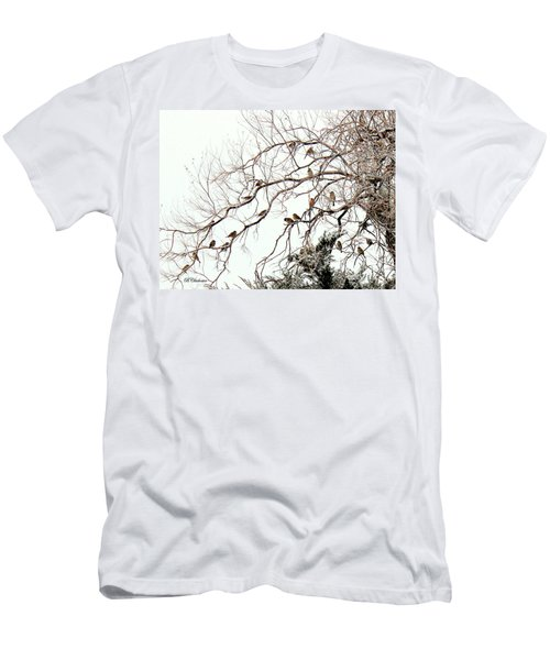 Men's T-Shirt (Slim Fit) featuring the photograph Out On A Limb First Snow by Barbara Chichester