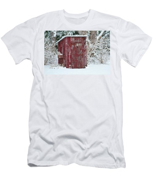 Outhouse Garden Shed In Winter, Marion Men's T-Shirt (Athletic Fit)