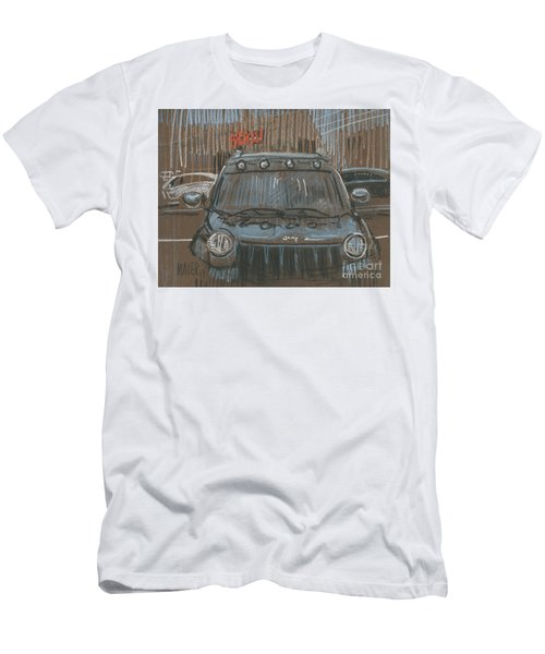 Men's T-Shirt (Slim Fit) featuring the painting Outside Biglots by Donald Maier