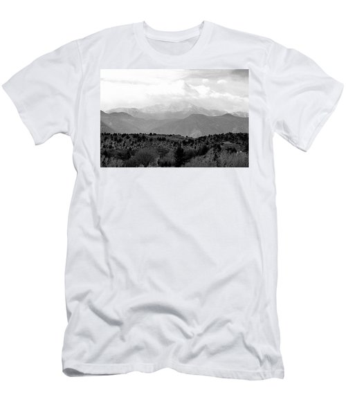 Men's T-Shirt (Slim Fit) featuring the photograph Over The Hills To Pikes Peak by Clarice  Lakota