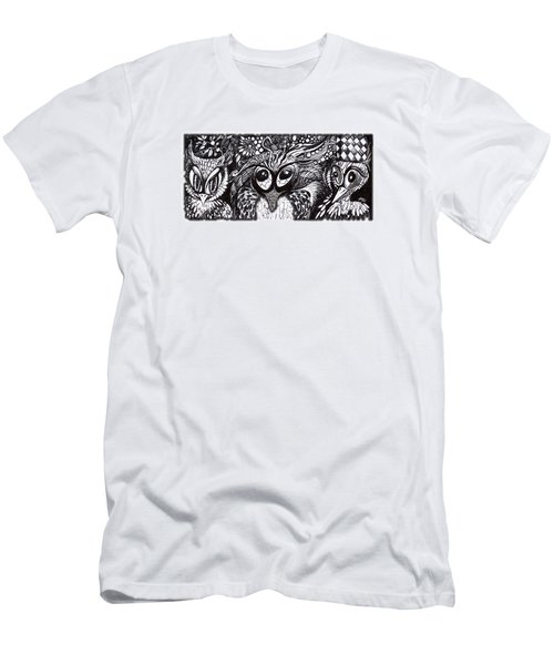 Owls Eyes Men's T-Shirt (Slim Fit) by Adria Trail