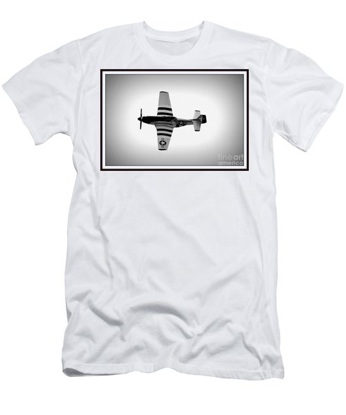 P51 King Of The Skies Men's T-Shirt (Slim Fit) by Kevin Fortier