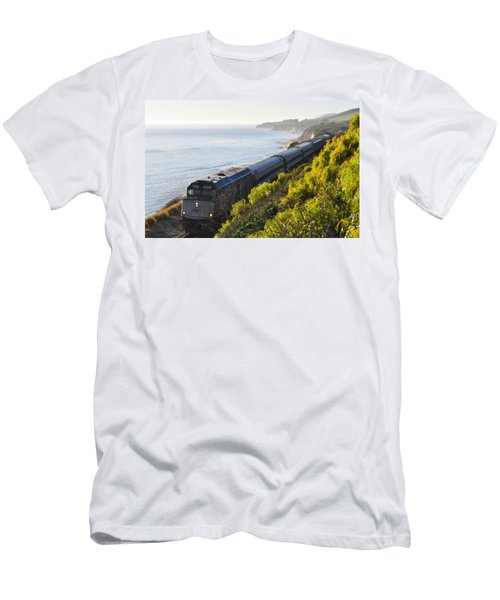 Pacific Surfliner Along The Central Coast Men's T-Shirt (Athletic Fit)