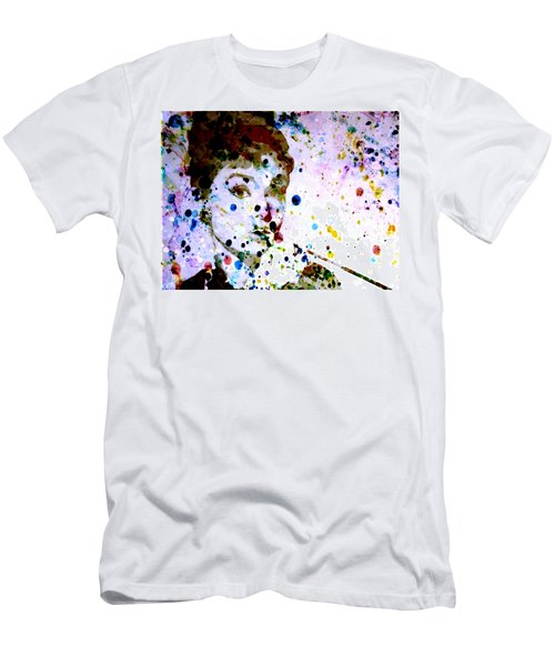Men's T-Shirt (Slim Fit) featuring the digital art Paint Drops by Brian Reaves