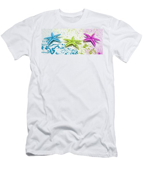 Paint Spattered Star Fish Men's T-Shirt (Athletic Fit)