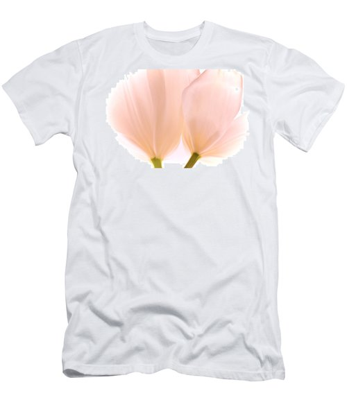 Pale Pink Tulips With Vignette Men's T-Shirt (Athletic Fit)