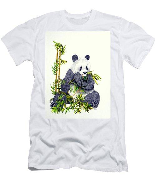 Men's T-Shirt (Slim Fit) featuring the drawing Panda  by Terri Mills