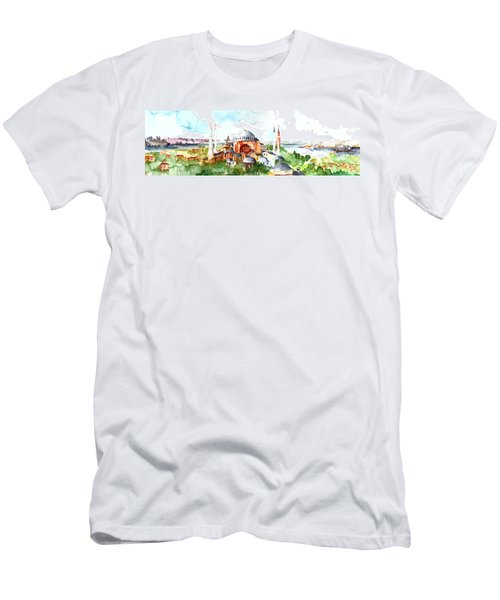 Panoramic Hagia Sophia In Istanbul Men's T-Shirt (Athletic Fit)