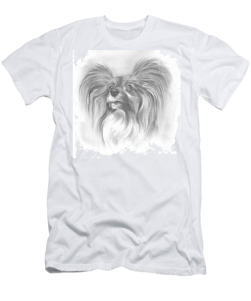 Men's T-Shirt (Slim Fit) featuring the drawing Papillon by Paul Davenport