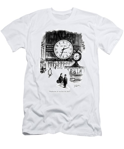 Pardon Me, Do You Have The Time? Men's T-Shirt (Athletic Fit)