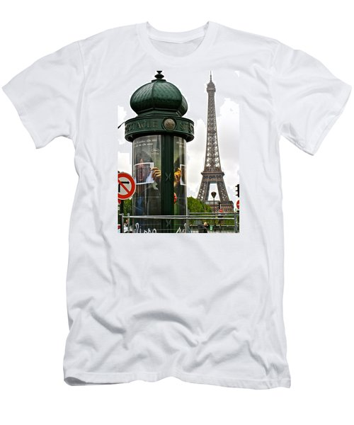 Men's T-Shirt (Slim Fit) featuring the photograph Paris by Ira Shander