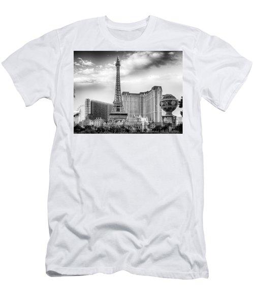 Men's T-Shirt (Athletic Fit) featuring the photograph Paris Las Vegas by Howard Salmon