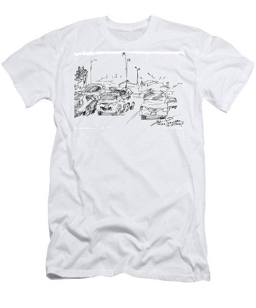 Parking Lot  Men's T-Shirt (Athletic Fit)