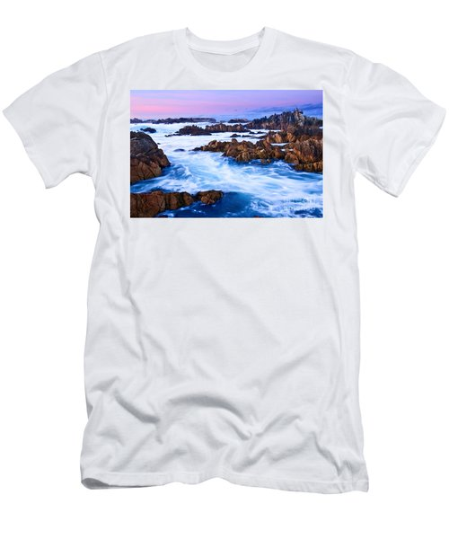 Pastel Tides - Rocky Asilomar Beach In Monterey Bay At Sunset. Men's T-Shirt (Athletic Fit)