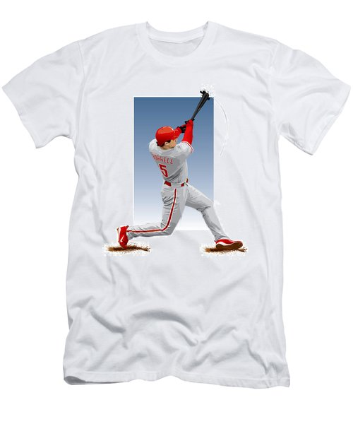 Pat The Bat Burrell Men's T-Shirt (Slim Fit) by Scott Weigner