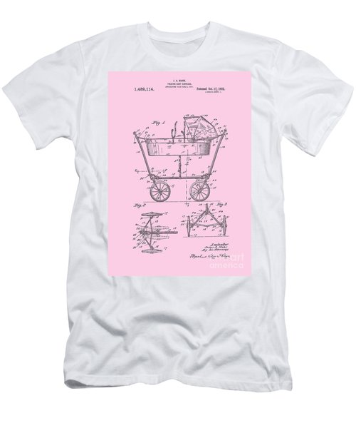 Patent Art Baby Carriage 1922 Mahr Design Pink Men's T-Shirt (Athletic Fit)