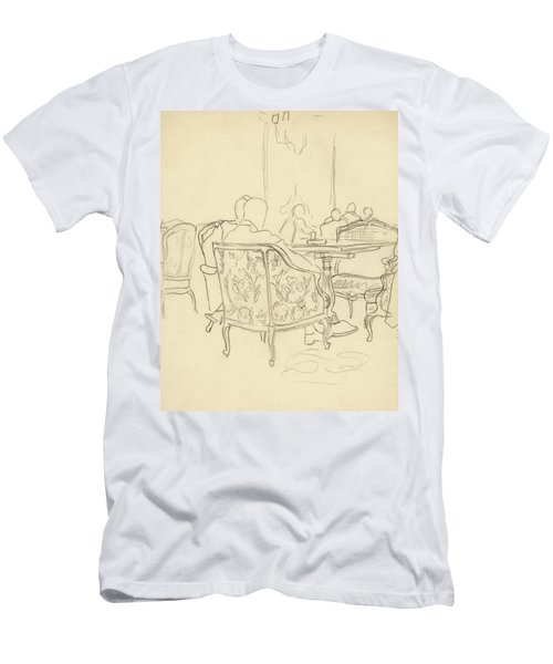 Patterned Chairs At A Restaurant Men's T-Shirt (Athletic Fit)