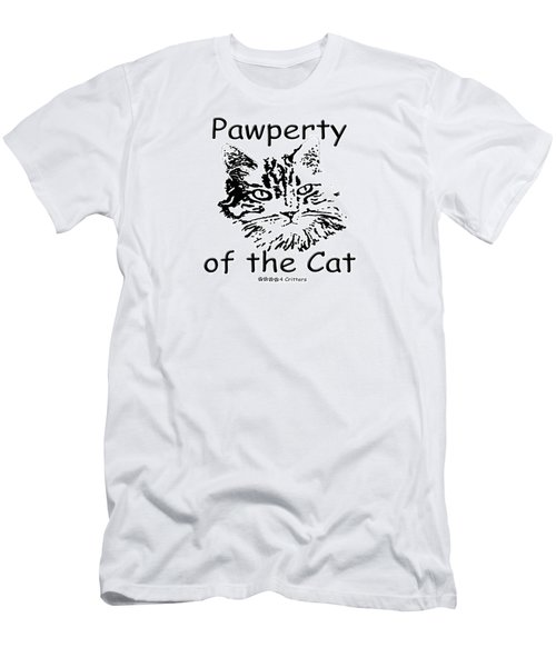 Pawperty Of The Cat Men's T-Shirt (Athletic Fit)