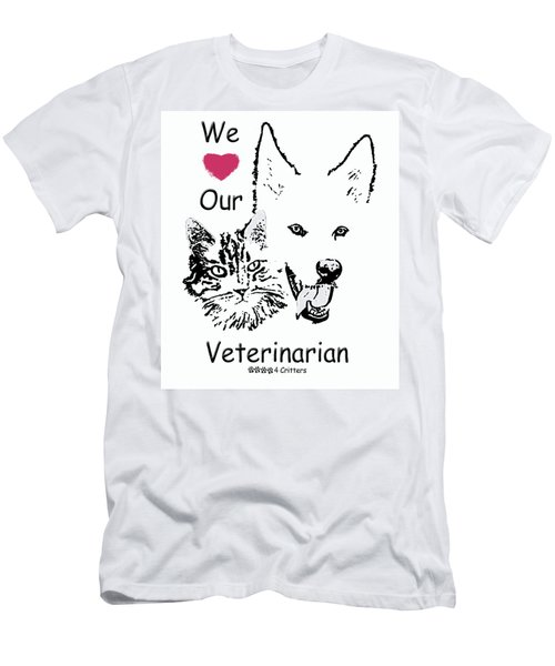 Paws4critters Love Veterinarian Men's T-Shirt (Athletic Fit)