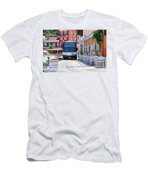 Paxos Island Bus Men's T-Shirt (Athletic Fit)