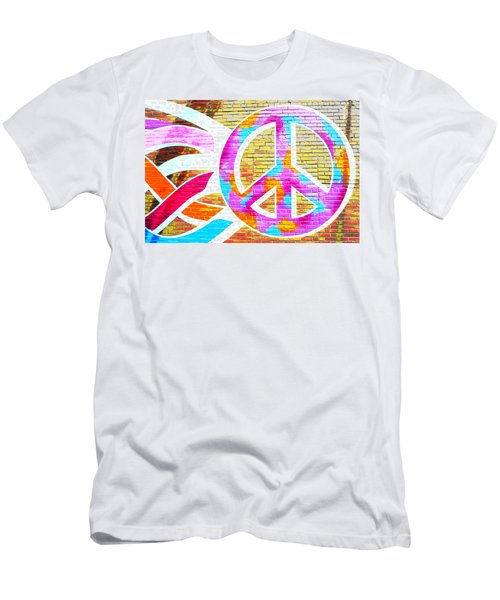 Peace Out Men's T-Shirt (Athletic Fit)
