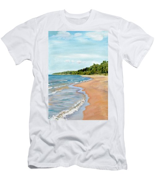 Peaceful Beach At Pier Cove Men's T-Shirt (Athletic Fit)