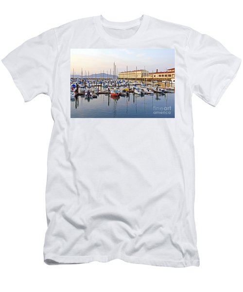 Men's T-Shirt (Slim Fit) featuring the photograph Peaceful Marina by Kate Brown