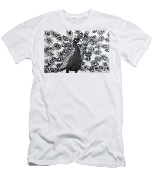 Peacock Walk Men's T-Shirt (Athletic Fit)