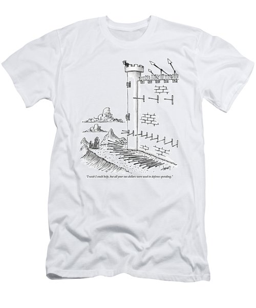 Peasant Outside Gates Speaks To King At Top Men's T-Shirt (Athletic Fit)
