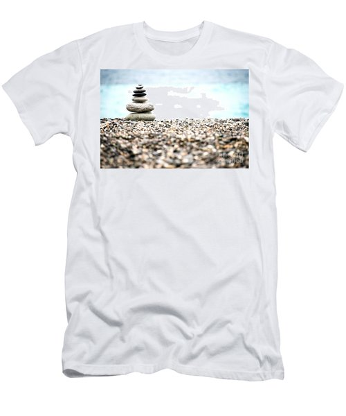 Pebble Stone On Beach Men's T-Shirt (Athletic Fit)