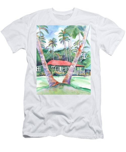 Peeking Between The Palm Trees 2 Men's T-Shirt (Athletic Fit)
