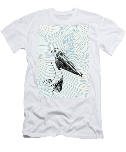 Pelican On Waves Men's T-Shirt (Athletic Fit)