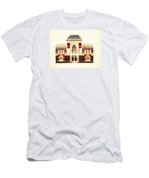 Men's T-Shirt (Slim Fit) featuring the painting Pennsylvania Academy Of Fine Art by William Renzulli