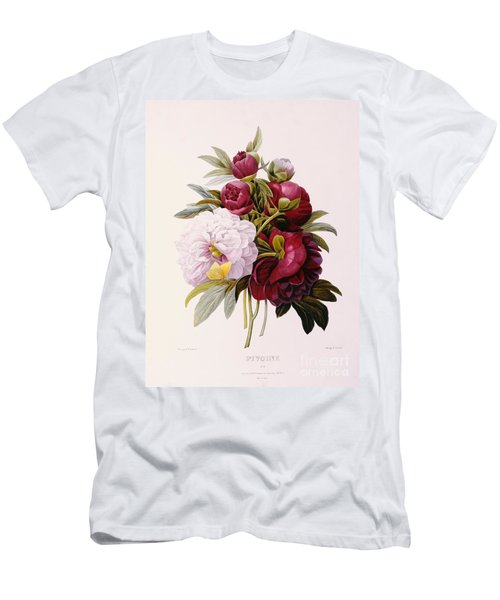 Peonies Engraved By Prevost Men's T-Shirt (Athletic Fit)