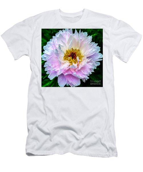 Peony Flower Men's T-Shirt (Athletic Fit)
