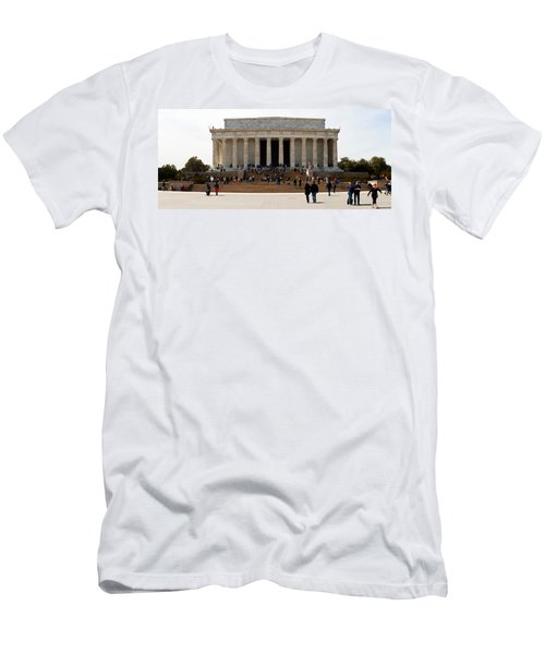 People At Lincoln Memorial, The Mall Men's T-Shirt (Slim Fit) by Panoramic Images