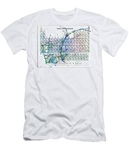 Periodic Table Colorful Liquid Splash Men's T-Shirt (Athletic Fit)