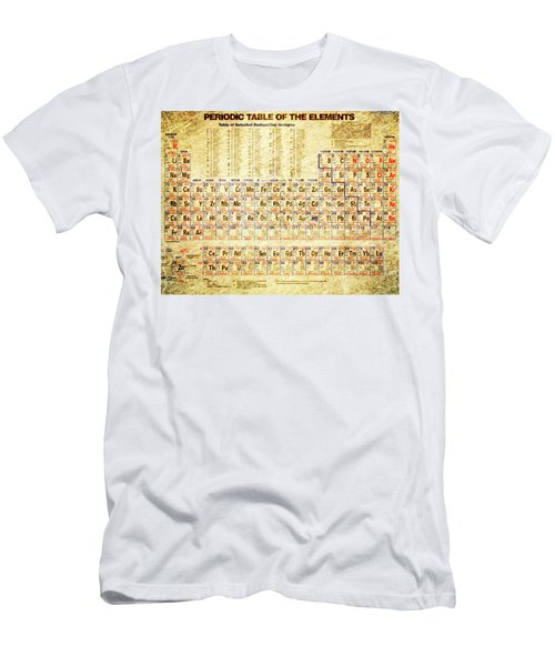 Periodic Table Of The Elements Vintage White Frame Men's T-Shirt (Athletic Fit)