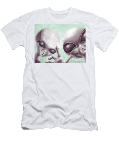 Personal Space Invaders Men's T-Shirt (Athletic Fit)
