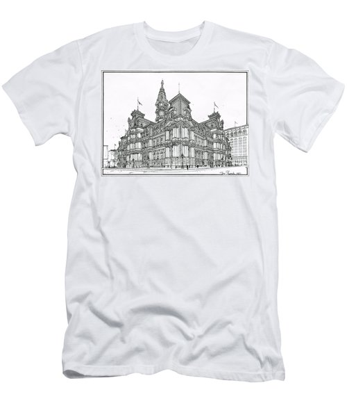 Philadelphia City Hall 1911 Men's T-Shirt (Slim Fit) by Ira Shander