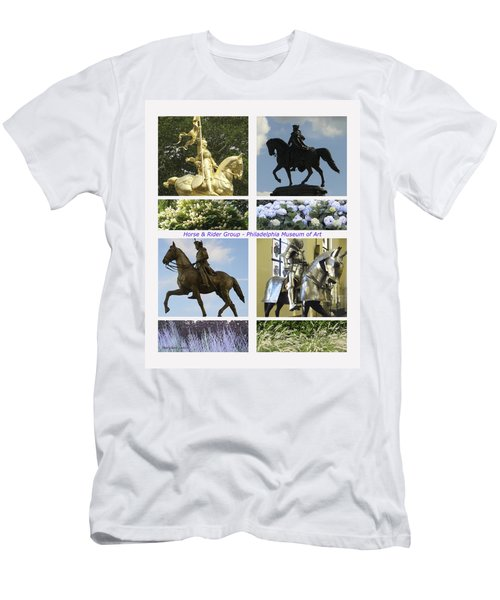 Men's T-Shirt (Slim Fit) featuring the photograph Philadelphia Museum Of Art by Mary Ann Leitch